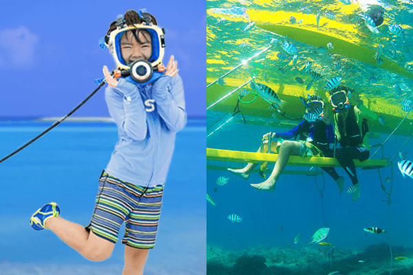 You can enjoy the beautiful sea of Okinawa in a safe way!