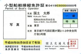 小型船舶操縦士免許証
